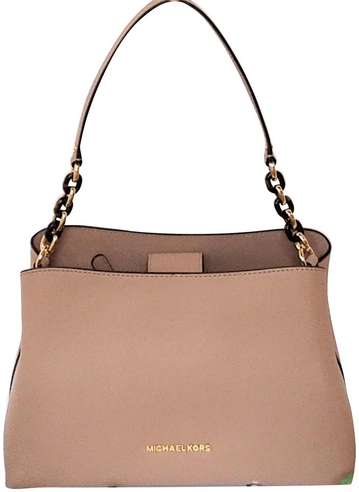 ce8e5f4932af Michael Kors Sofia Crossbody Bags Pink Totes Satchel in Fawn Image 0 ...