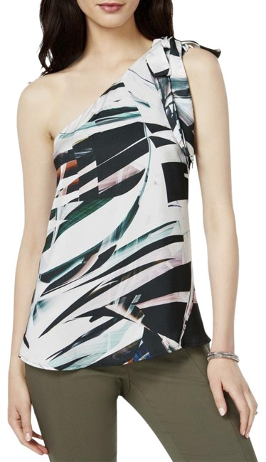 Item - Multicolor Iii Womens Satin One Shoulder Blouse Size 8 (M)