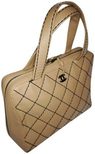 Chanel Vintage Leather Tote in camel