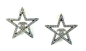 Chanel Chanel Multi Color Crystals Star CC Fashion Earrings.