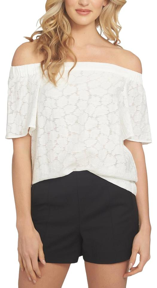 e00db11aa9f 1.STATE Ivory Womens Off-the-shoulder Textured M Blouse Size 8 (M ...