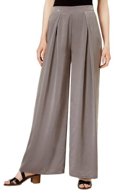 Item - Hazy Taupe Iii Womens Satin Pleated M Pants Size 8 (M, 29, 30)
