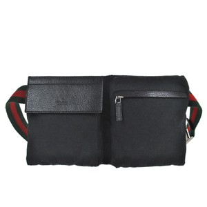 47c10df67ac Gucci Monogram Sherry Gg Web Fanny Pack Waist Pouch 868024 Black ...