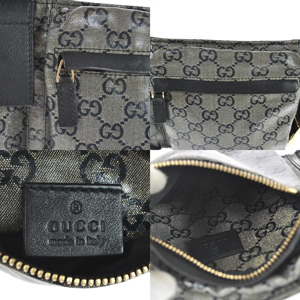 5f02b7243e79 Gucci Monogram Crystal Gg Fanny Pack Belt 868029 Grey Coated Canvas ...