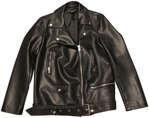 Bagatelle Faux Biker Leather Jacket