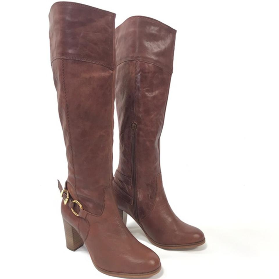 baa97383229 Diba Tan Leather Knee High Boots Booties Size US 8 Regular (M