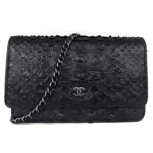 Chanel Python Woc Wallet On Cross Body Bag