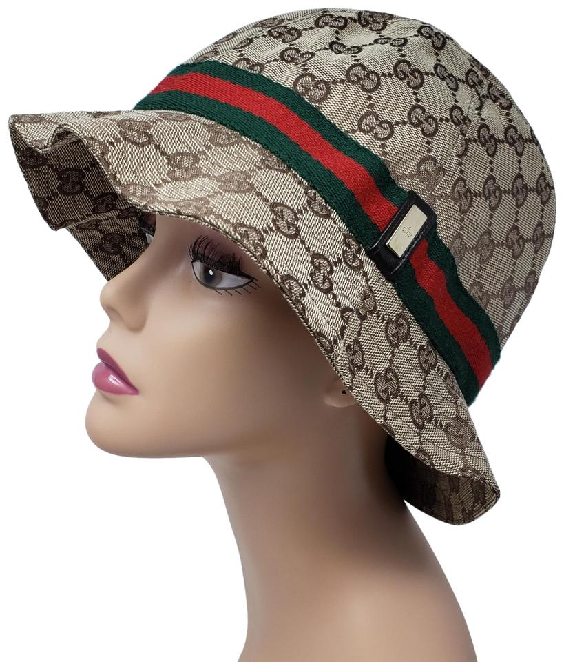 Gucci Beige Tan Gg Web Canvas Bucket Xl Hat - Tradesy a21112f4900