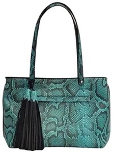 Anthony Luciano Tote in Turquoise and Black