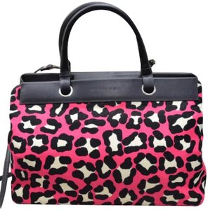 Bottega Veneta Doctor Speedy Boston Tote Herbag Satchel in Black/Pink/White