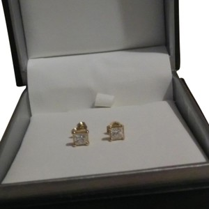 Kay Jewelers 3/4 CT TW Princess-Cut Diamond 14K Gold Solitaire Stud Earrings