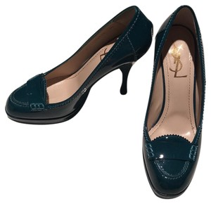 Saint Laurent Deep Turquoise Pumps