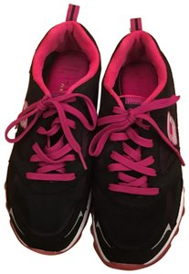 Skechers black with hot pink trim Athletic