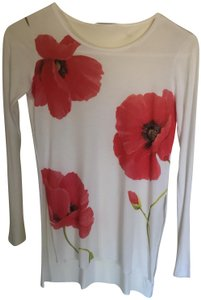 Sisley T Shirt Red and White Floral print