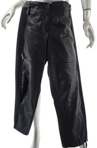 Annette Görtz Lamb Leather Knit Crop Capri/Cropped Pants Black