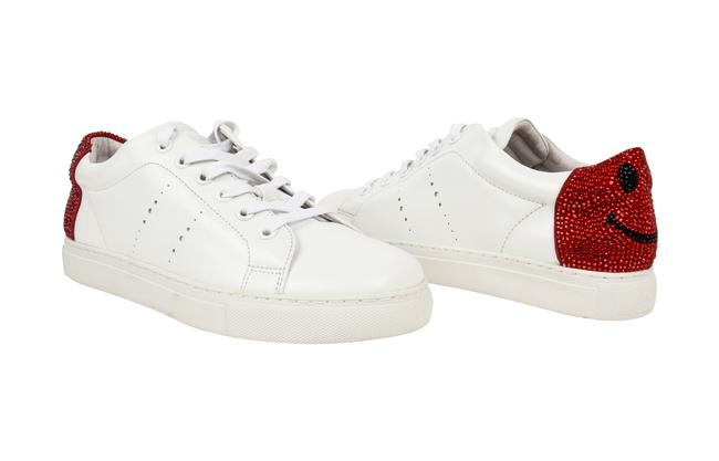 Item - White Embellished Smiley Face / 9 Sneakers Size EU 39 (Approx. US 9) Regular (M, B)