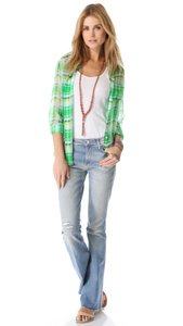 Mother Stretchy Frayed Hippie Flare Leg Jeans-Distressed