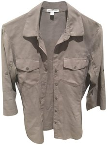 James Perse Button Down Shirt White and also Taupe (Grey) (I have two)