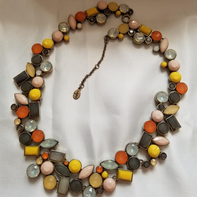 Item - Yellow and Grey Pastel Stone Necklace