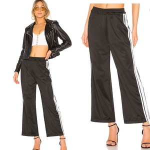 Lovers + Friends Athletic Pants black with white strip