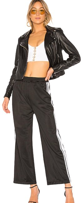 Lovers + Friends Black with White Strip Track Pants Size 8 (M, 29, 30) Lovers + Friends Black with White Strip Track Pants Size 8 (M, 29, 30) Image 1