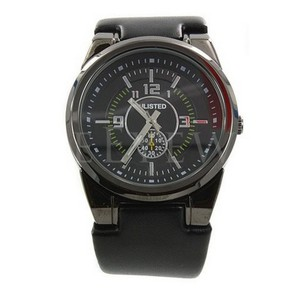 Unlisted by Kenneth Cole UL1094 Men's Watch Style Black Analog Dial Genuine Watch NWT