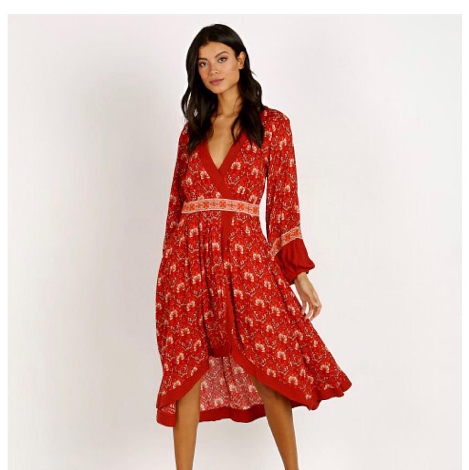 4dc11d75051f Spell & the Gypsy Collective Red/Copper Soirée Mid-length Casual ...