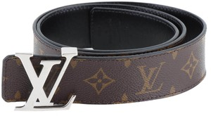 Louis Vuitton Brown Monogram Coated Canvas LV Initiales 40MM Reversible Leather Belt