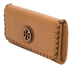 Tory Burch Marion Whipstitch Continental Flap Wallet, Tan