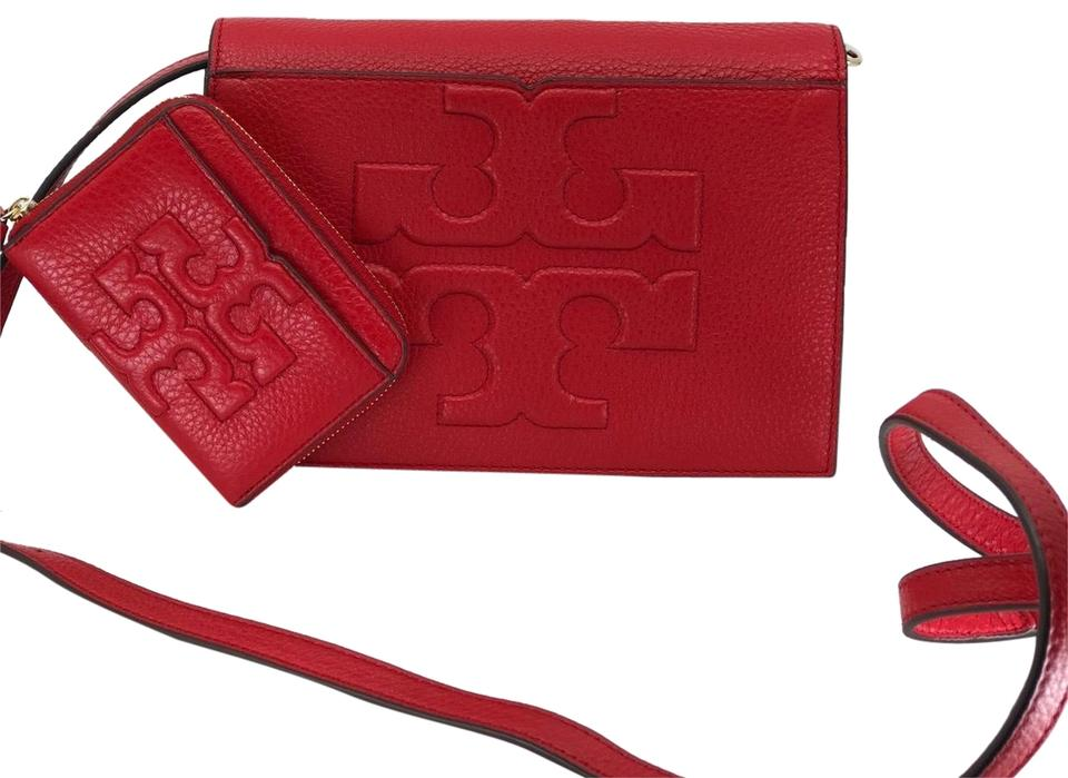 f87619df25c7 Tory Burch Bombe T Combo 2 Pcs Set and Mini Wallet Liberty Red ...