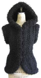 Alexander Wang Knit Hooded Chunky Hourglass Jacket Vest