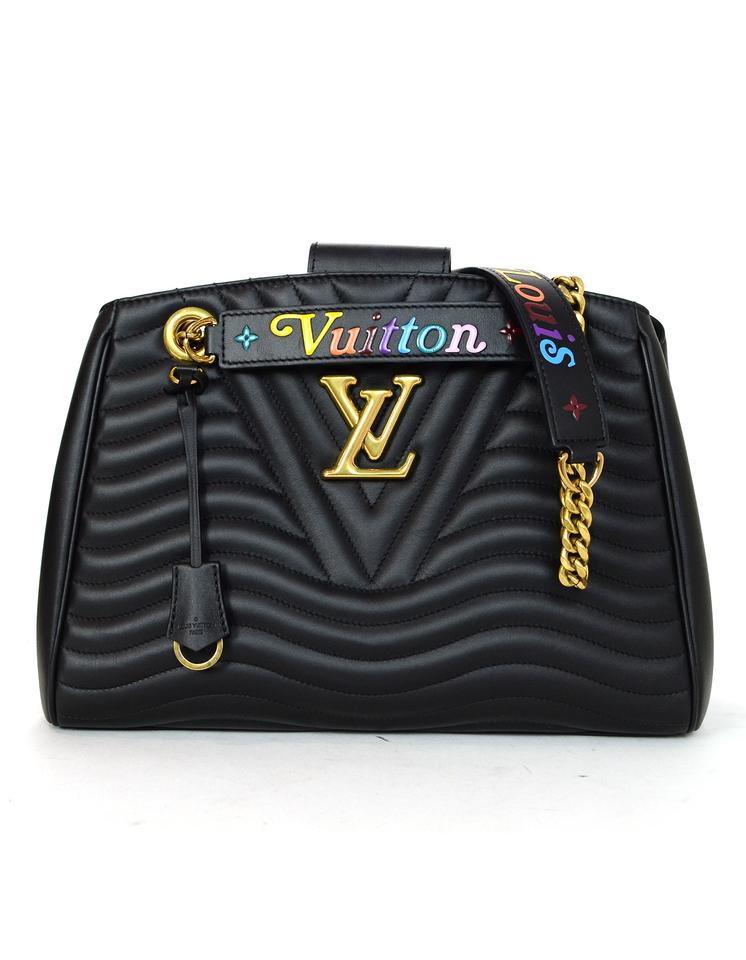 eef809a6b313 Louis Vuitton 2018 Quilted New Wave Chain Pm Black Calfskin Leather ...