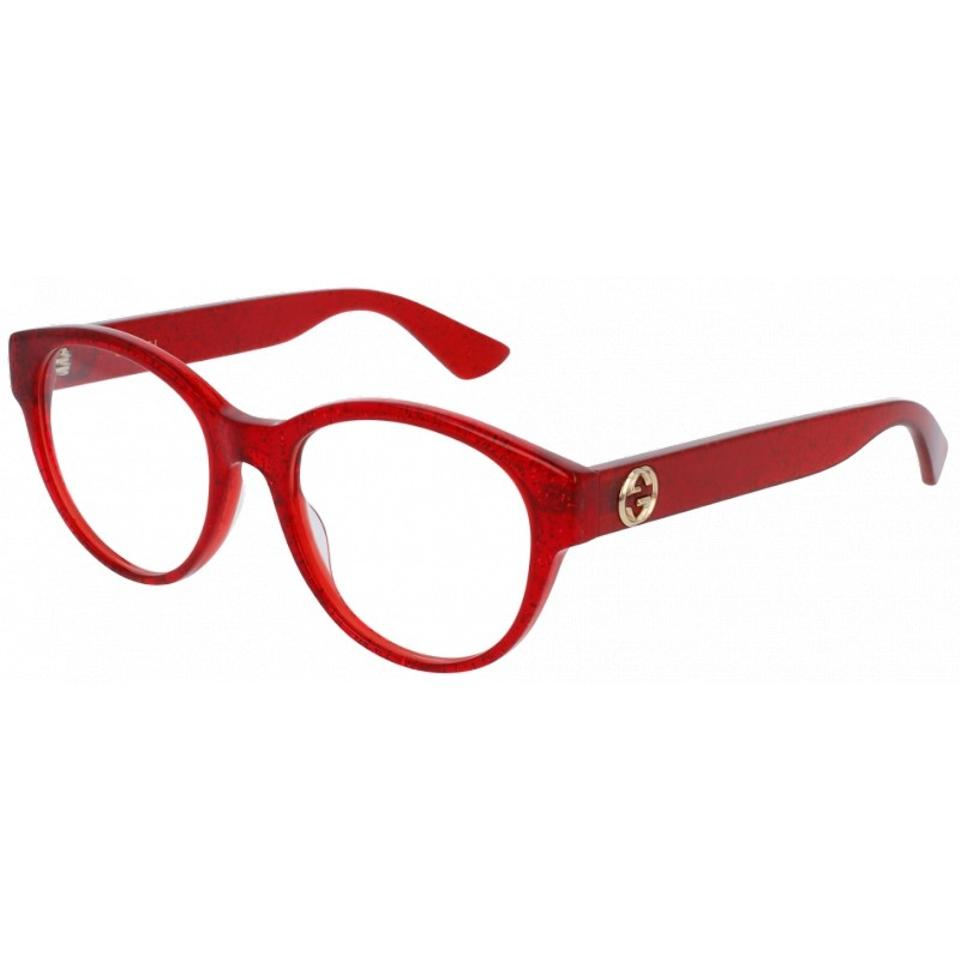 a75f1c3592 Gucci NEW Gucci 0039O Red Glitter Rounded Cat Eye Eyeglasses Frames Image 0  ...