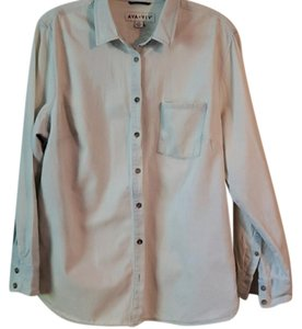 Ava & Viv Plus-size Shirt Trendy Button Down Shirt Denim