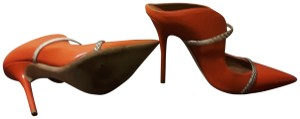 Malone Souliers CORAL WITH SNAKE Pumps