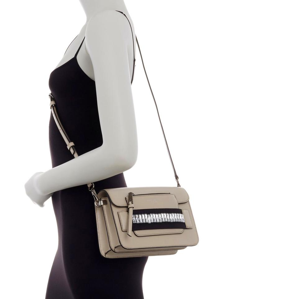 58cb19b89 Marc Jacobs Saffiano Leather Crystal Embellished Cross Body Bag Image 4.  12345