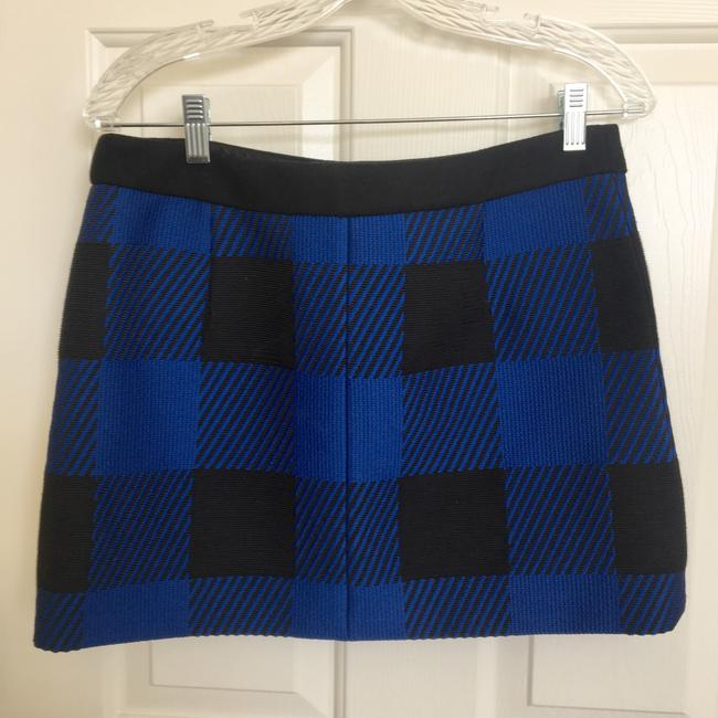Rag & Bone Mini Skirt Black and Blue