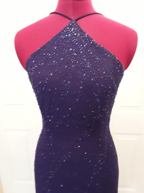 Niki Lavis Sequin Halter Knit Dress