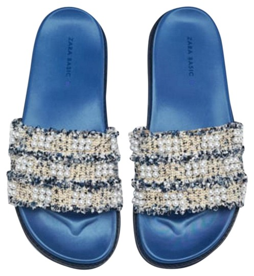 Preload https://img-static.tradesy.com/item/24097319/zara-blue-faux-pearl-sandals-size-us-6-regular-m-b-0-1-540-540.jpg