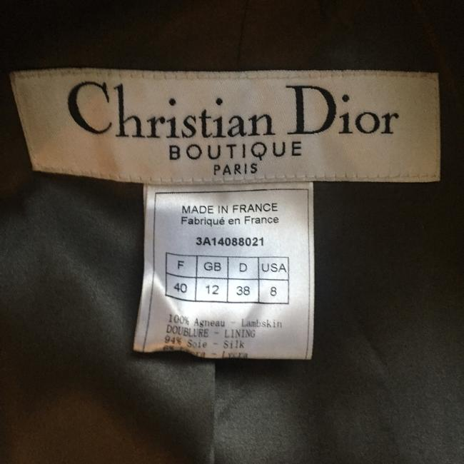 Dior Green Leather Jacket