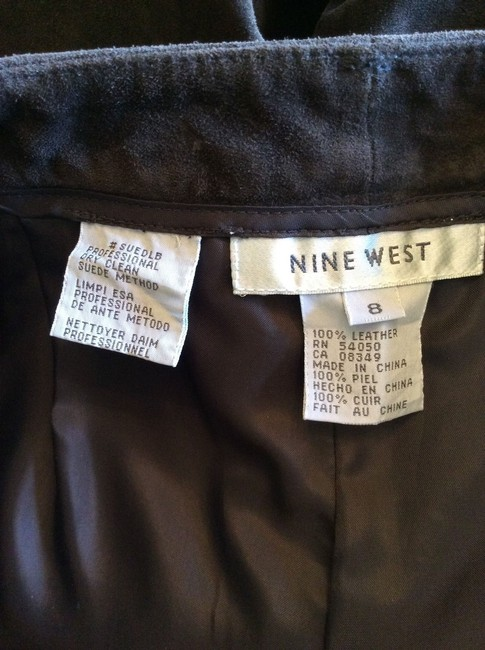 Nine West Suede Trouser Pants Rich Chocolate Brown