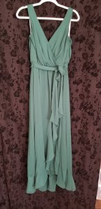 David's Bridal Juniper Chiffon Style #19748 Traditional Bridesmaid/Mob Dress Size 10 (M)