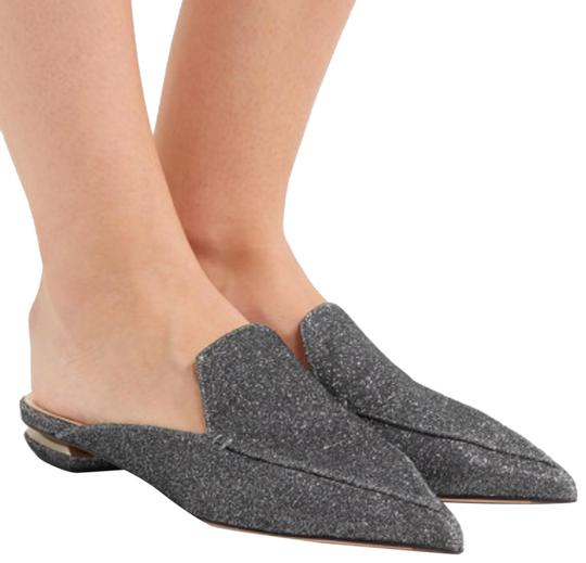 Preload https://img-static.tradesy.com/item/24097391/nicholas-kirkwood-black-silver-metallic-grey-gray-shimmer-beya-loafer-slippers-mules-flats-size-eu-3-0-2-540-540.jpg