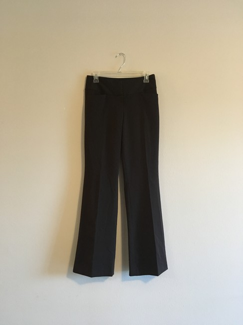 Express Editor Flat Front Bootcut Wide Leg Pants brown