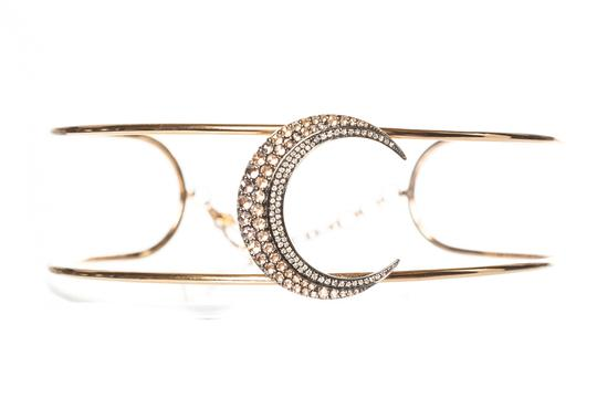 Shay SHAY Rose Gold & Diamond Caged Moon Choker Necklace