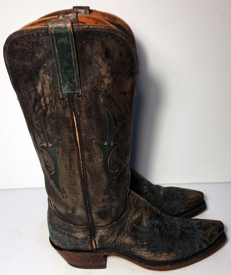 Lucchese Size 7 Cowgirl Size 7 Women Size 7 1883 Brown Boots