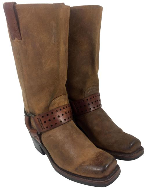 Frye Brown 77300 Harness Suede Leather Motorcycle Women Boots/Booties Size US 6 Regular (M, B) Frye Brown 77300 Harness Suede Leather Motorcycle Women Boots/Booties Size US 6 Regular (M, B) Image 1