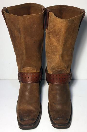 Frye 77300 Harness Suede Women Size 6 Size 6 Brown Boots