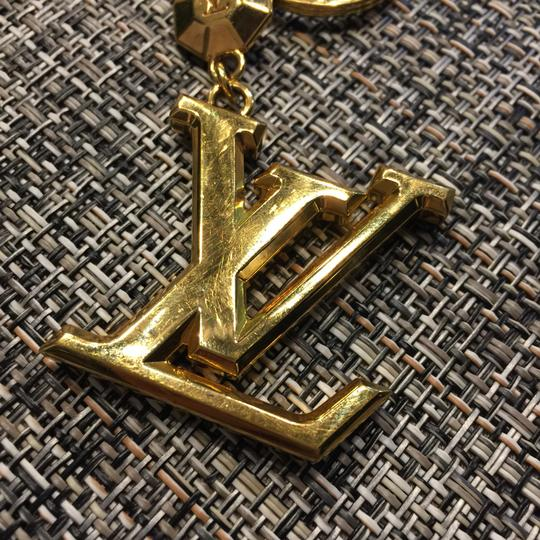 Louis Vuitton Louis Vuitton FACETTES Golden Gold Keychain Key Holder Ring Bag Charm Chain Accessory M65216 for Speedy Bandouliere Siena twinset neverfull