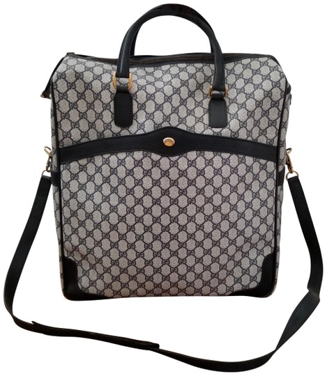 Preload https://img-static.tradesy.com/item/24097555/gucci-rare-carry-on-gg-luggage-blue-monogram-canvas-and-leather-weekendtravel-bag-0-4-540-540.jpg